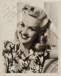 Movie/TV Memorabilia:Autographs and Signed Items, A Betty Grable Signed Black and White Photograph, Circa 1940s....