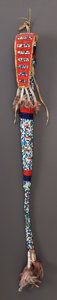 American Indian Art:Beadwork and Quillwork, A SIOUX BEADED HIDE AWL CASE...