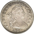 Early Half Dimes: , 1800 H10C AU50 PCGS. V-1, LM-1, R.3. In addition to the digits ofthe date being evenly spaced, the I in LIBERTY is somewha...