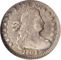 Early Half Dimes: , 1801 H10C V-1 and V-2, LM-2, R.4. Reiver state b. VF25 NGC. Ex:Reiver Collection. Attractive medium steel gray with a tou...