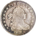 Early Dimes: , 1802 10C --Damaged, Bent--NCS. AU Details. JR-4, R.4. The tip ofthe curl is under the curves of the B in LIBERTY, the top p...