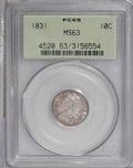 Bust Dimes: , 1831 10C MS63 PCGS. JR-3, R.1. Medium rose coloration embraces thislustrous and sharply struck Capped Bust dime. A single ...