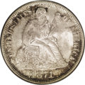 Seated Dimes: , 1871 10C MS66 PCGS. Pearl-gray iridescence occasionally concedes tonavy-blue and sea-green patination. This satiny and sui...