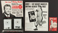 "Baseball Collectibles:Others, 1950's and 1960's Mickey Mantle Intercom, Advertisement and ""How IHit"" Booklet Lot...."