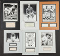 Baseball Collectibles:Others, Baseball Greats Signed Cut Signature Displays Lot of 6....