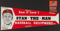 Baseball Collectibles:Others, Stan Musial Signed Advertisement and 1944 Booklet....