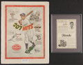 """Baseball Collectibles:Others, Circa 1910 Ty Cobb """"Tuxedo"""" and 1947 Mickey Vernon (restored)Louisville Slugger Advertisements Lot of 2...."""