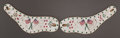 American Indian Art:Beadwork and Quillwork, A PAIR OF SIOUX PICTORIAL BEADED HIDE SPUR CUFFS...