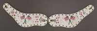 A PAIR OF SIOUX PICTORIAL BEADED HIDE SPUR CUFFS