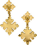 Estate Jewelry:Earrings, Jean Mahie 22k Gold Earrings. ...