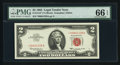 Small Size:Legal Tender Notes, Fr. 1513* $2 1963 Legal Tender Note. PMG Gem Uncirculated 66 EPQ.. ...