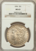 Morgan Dollars: , 1896 $1 MS63 NGC. NGC Census: (12205/20532). PCGS Population(12095/16918). Mintage: 9,976,762. Numismedia Wsl. Price for p...