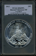 Modern Bullion Coins, 2012 25C Hawaii Volcanoes Five-Ounce Silver MS69 Prooflike PCGS.Ex: Signature of John M. Mercanti, 12th Chief Engraver of ...