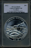 Modern Bullion Coins, 2012 25C Chaco Culture Five Ounce Silver MS69 PCGS. PCGS Population(49/0). The image displayed is a s...
