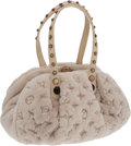 Luxury Accessories:Bags, Louis Vuitton Limited Edition Quilted Monogram Mink Demi Lune TopHandle Bag. ...