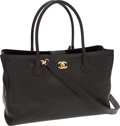 Luxury Accessories:Bags, Chanel Black Caviar Leather Cerf Tote Bag with Gold Hardware. ...