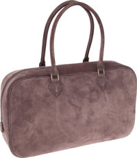 Hermes Gris Clair Veau Doblis Plume Elan Bag with Palladium Hardware