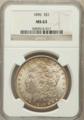 Morgan Dollars: , 1896 $1 MS63 NGC. NGC Census: (12142/20501). PCGS Population(12012/16870). Mintage: 9,976,762. Numismedia Wsl. Price for p...