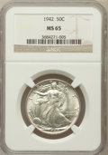 Walking Liberty Half Dollars: , 1942 50C MS65 NGC. NGC Census: (4922/3030). PCGS Population(6494/2822). Mintage: 47,839,120. Numismedia Wsl. Price for pro...