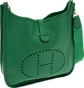 Luxury Accessories:Bags, Hermes Vert Clair Epsom Leather Evelyne II Crossbody Bag. ...