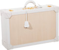Luxury Accessories:Travel/Trunks, Hermes White Gulliver Leather & Crinoline Espace Suitcase . ...