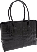 Luxury Accessories:Bags, Tod's Shiny Black Alligator Classic D Bag. ...