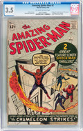 Silver Age (1956-1969):Superhero, The Amazing Spider-Man #1 (Marvel, 1963) CGC VG- 3.5 Off-white to white pages....