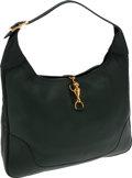 Luxury Accessories:Accessories, Hermes 38cm Vert Fonce Togo Leather Trim Bag with Gold Hardware....
