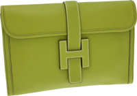 Hermes Vert Anis Togo Leather Jige MM H Clutch