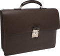 Luxury Accessories:Bags, Louis Vuitton Brown Taiga Leather Neo Robusto 2 Briefcase Bag. ...