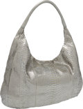 Luxury Accessories:Bags, Devi Kroell Silver Python Oversize Hobo Bag. ...