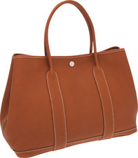 Hermes Gold Togo Leather Garden Party MM Tote Bag