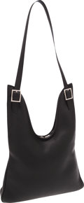Luxury Accessories:Bags, Hermes Black Togo Leather Massai Shoulder Bag with Extra Strap. ...