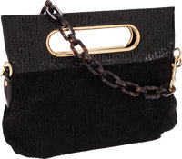 Louis Vuitton Limited Edition Black Suede Monogram Motard Before Dark Convertible Bag