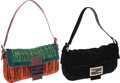 Luxury Accessories:Bags, Fendi Set of 2; Beaded Black Baguette & Beaded StrawberryBaguette Shoulder Bag. ... (Total: 2 Items)