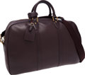 Luxury Accessories:Travel/Trunks, Louis Vuitton Burgundy Taiga Leather Kendall 45 Weekender OvernightBag with Shoulder Strap. ...