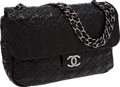 Luxury Accessories:Bags, Chanel Black Patent Leather Paris-Moscow Collection Jumbo SingleFlap Bag. ...