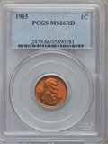 Lincoln Cents, 1915 1C MS66 Red PCGS....