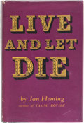 Books:Mystery & Detective Fiction, Ian Fleming. Live and Let Die. London: Jonathan Cape,[1959]. Sixth impression. Signed by Fleming on the fro...