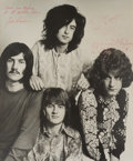 Music Memorabilia:Autographs and Signed Items, Led Zeppelin Signed Photo (c. 1969)....