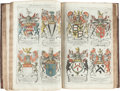 Books:Color-Plate Books, [Heraldry]. John Guillim. A Display of Heraldry:Manifesting a more easie access to the Knowledge thereof thanhat... (Total: 2 Items)