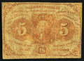 Fractional Currency:First Issue, Fr. 1231 5¢ First Issue Very Good.. ...