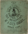 Books:Americana & American History, Horace Cope. The Rev. Mr. Sourball's European Tour; or, TheRecreations of a City Parson. Duffield Ashmead, 1867...