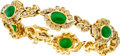 Estate Jewelry:Bracelets, Jadeite Jade, Diamond, Gold Bracelet. ...