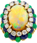 Estate Jewelry:Rings, Opal, Diamond, Sapphire, Emerald, Gold Ring. ...
