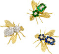 Estate Jewelry:Brooches - Pins, Diamond, Emerald, Sapphire, Gold Brooches. ...