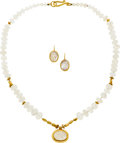 Estate Jewelry:Suites, Moonstone, Gold Jewelry Suite. ...