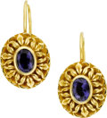 Estate Jewelry:Earrings, Tanzanite, Gold Earrings, Elliott . ...