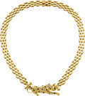 Estate Jewelry:Necklaces, Diamond, Sapphire, Gold Necklace. ...