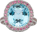 Estate Jewelry:Rings, Blue Topaz, Sapphire, White Gold Ring. ...